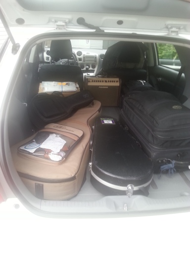 car packed for tour